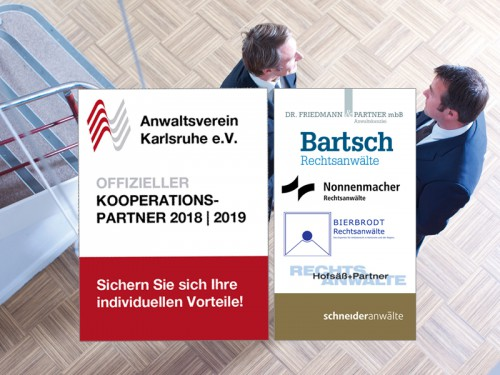 Offizieller Kooperationspartner 2018 | 2019 des Anwalstvereins Karlsruhe e.V.