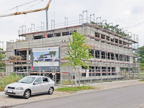 Unser Neubau wächst und wächst...
