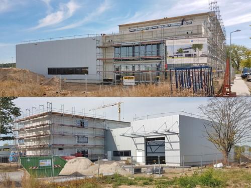 Tantzky-Neubau mit Werkshalle in Karlsruhe-Neureut